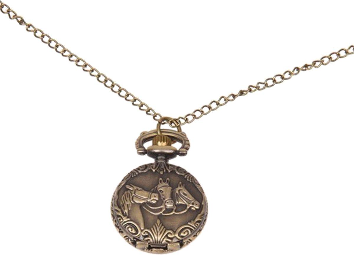 Treasure Trove® - Meisjeshorloge - Kettinghorloge - Horloge - Paard / Paarden - Vintage kopen