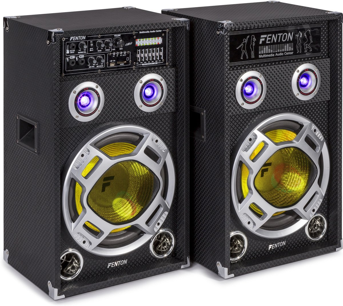 Fenton - KA-12 Actieve USB/RGB LED  Luidsprekers - 2 stuks - Zwart kopen