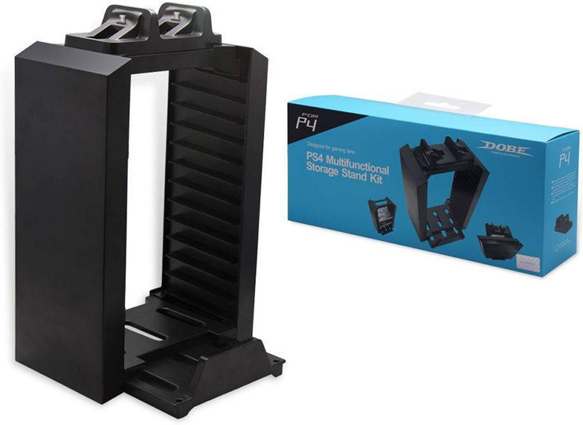 Leshp Multifunctionele Torenstandaard Met Console Voor Ps4 Multifunctional Storage Stand Kit Gameconsole Opslagtoren