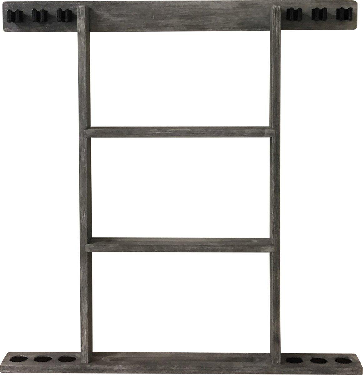 Buffalo cue wall rack for 6 cues grey kopen
