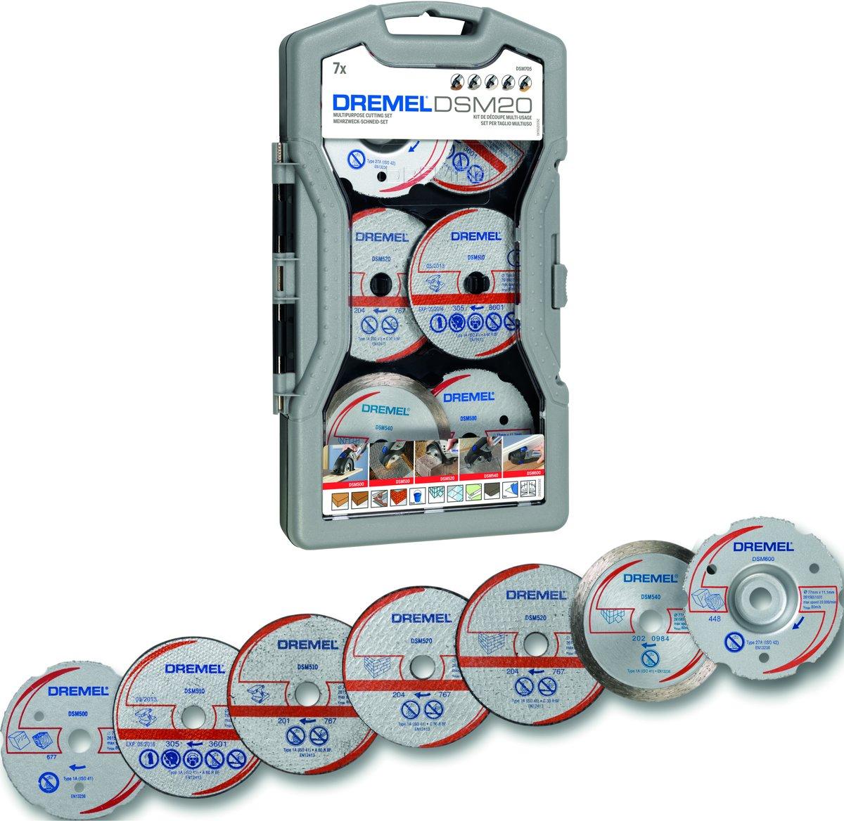 Dremel DSM705 accessoireset - Snijset voor DSM 20 Zaagmachine - 7 stuks