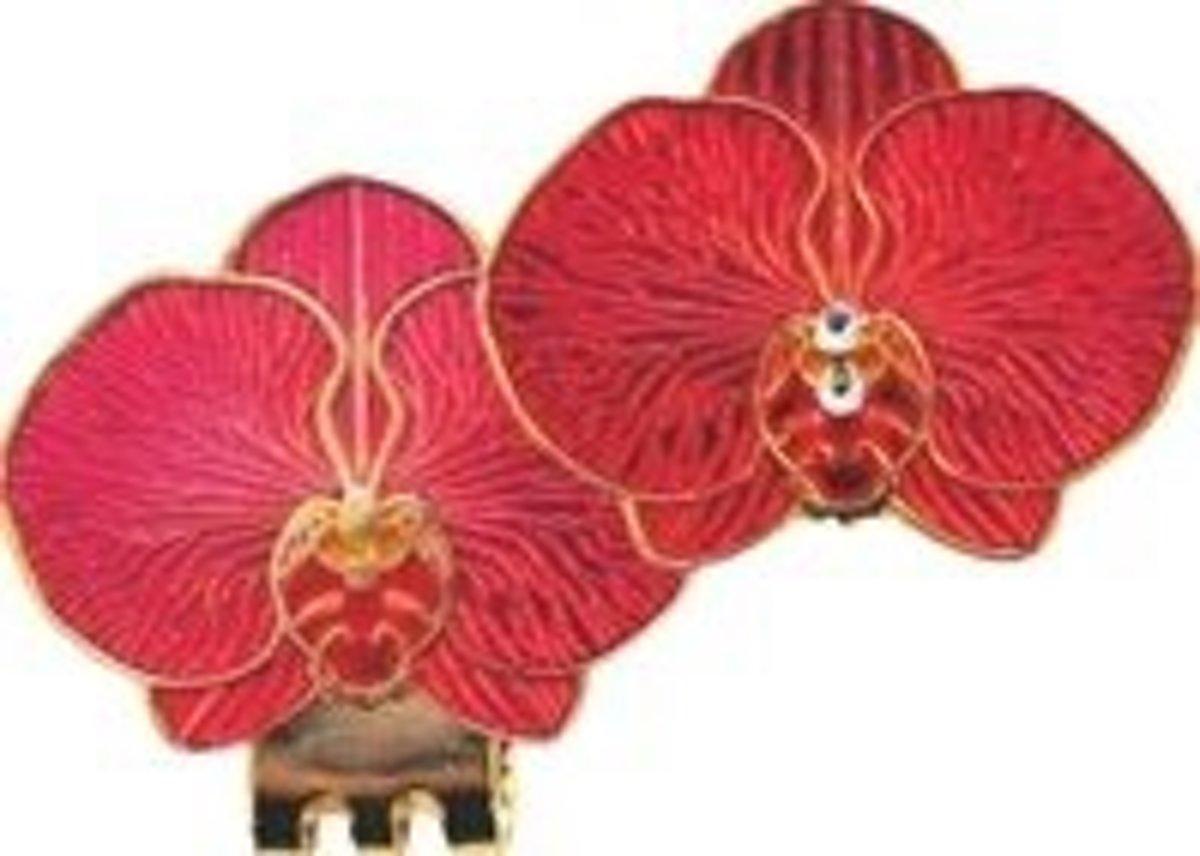 Magnetische Golfbal Marker Orchidee - rood kopen