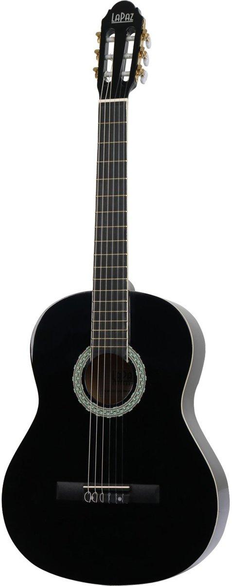 LaPaz 001 BK klassieke gitaar zwart