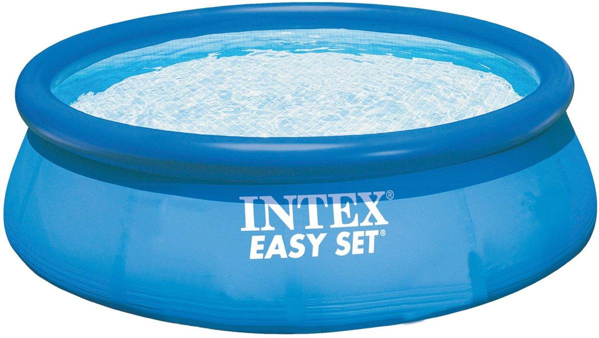 Intex Easy Set Opblaasbaar Zwembad - 244 cm - Inclusief 12V Filterpomp voor €24,99