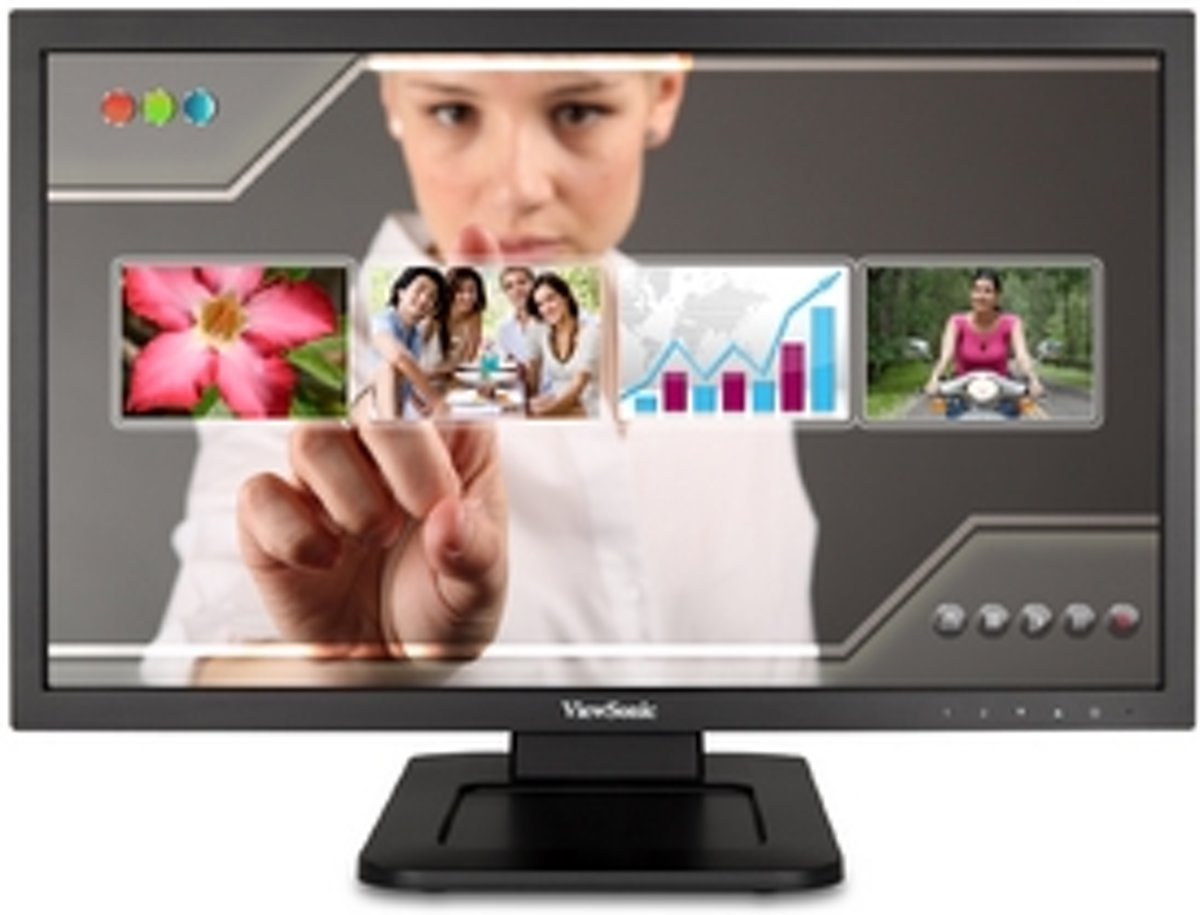 Viewsonic TD2220-2 21.5'' 1920 x 1080Pixels Multi-touch Zwart touch screen-monitor