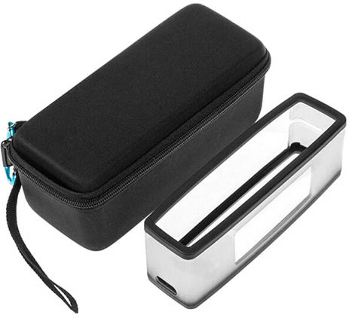 Bose Soundlink hardcase + silicone | 2in1| Beschermhoes voor de Bose Soundlink | Met extra ruimte voor de oplader kopen