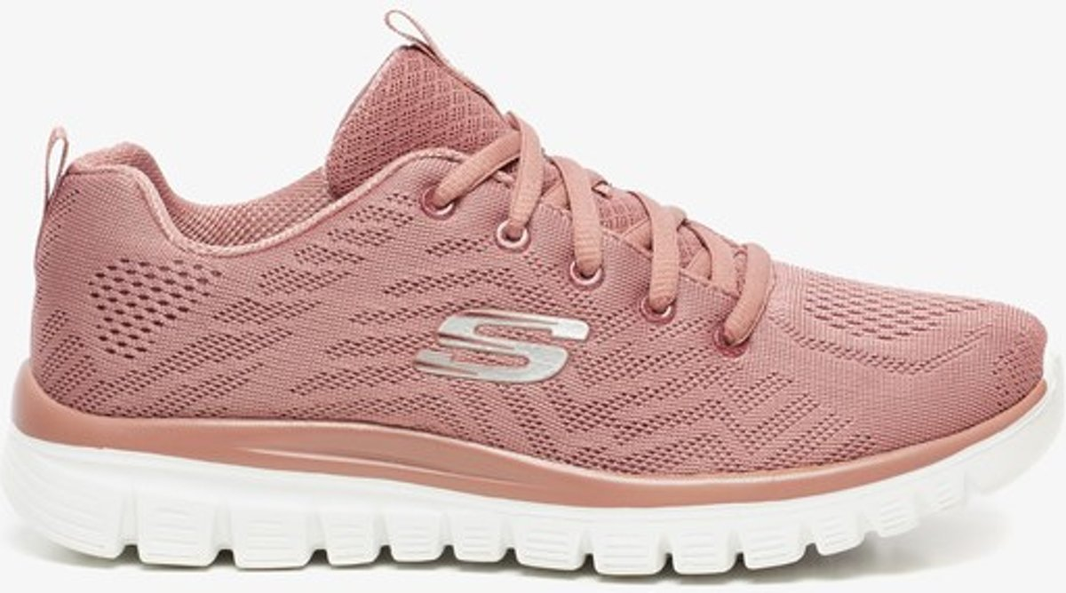 Skechers Get Connected dames sneakers Roze Maat 41