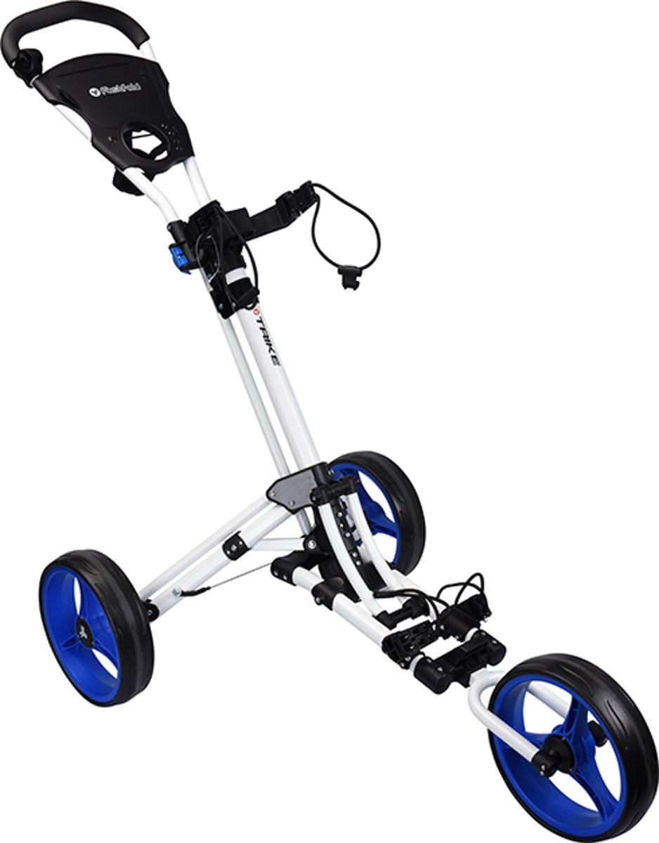Fastfold Trike Golftrolley White/Blue kopen