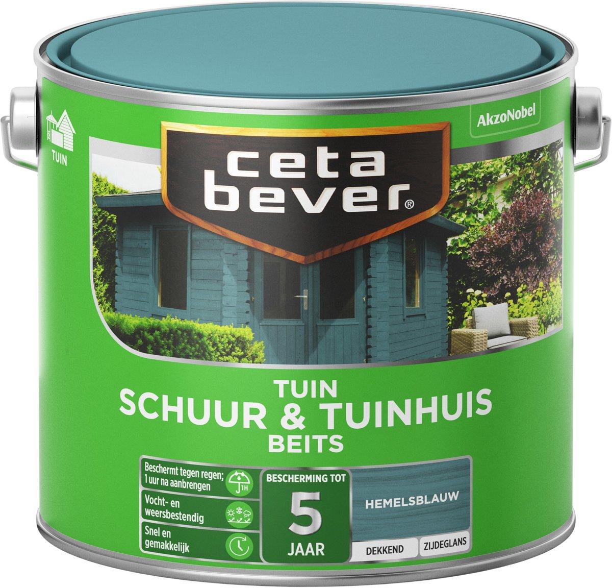 Cetabever Schuur & Tuinhuis Beits - Dekkend - Hemelsblauw - 2,5 L
