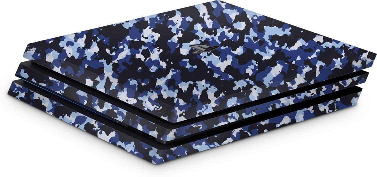 Playstation 4 Pro Console Skin Camo Blauw kopen