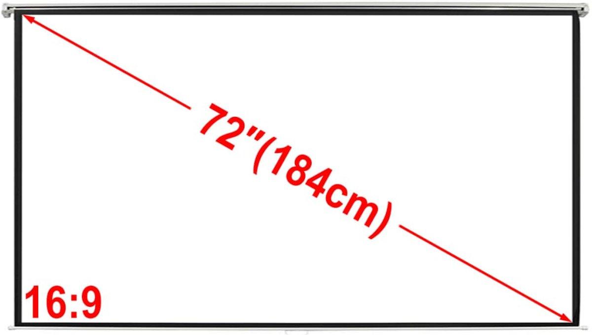 vidaXL Projectiescherm wit 160 x 90 cm (16:9 formaat) kopen