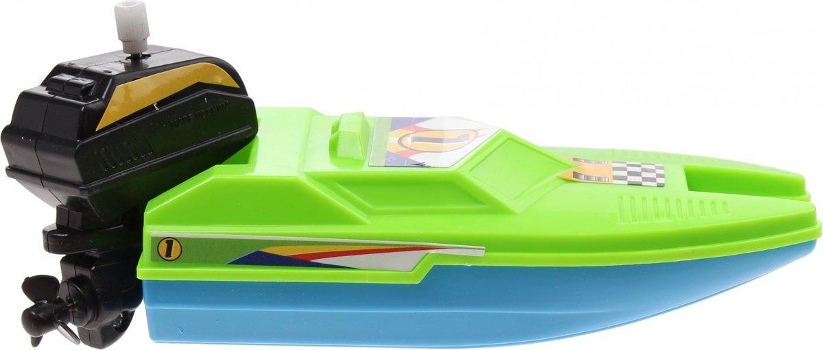 Waterzone Opwindbare Raceboot 15 Cm Groen