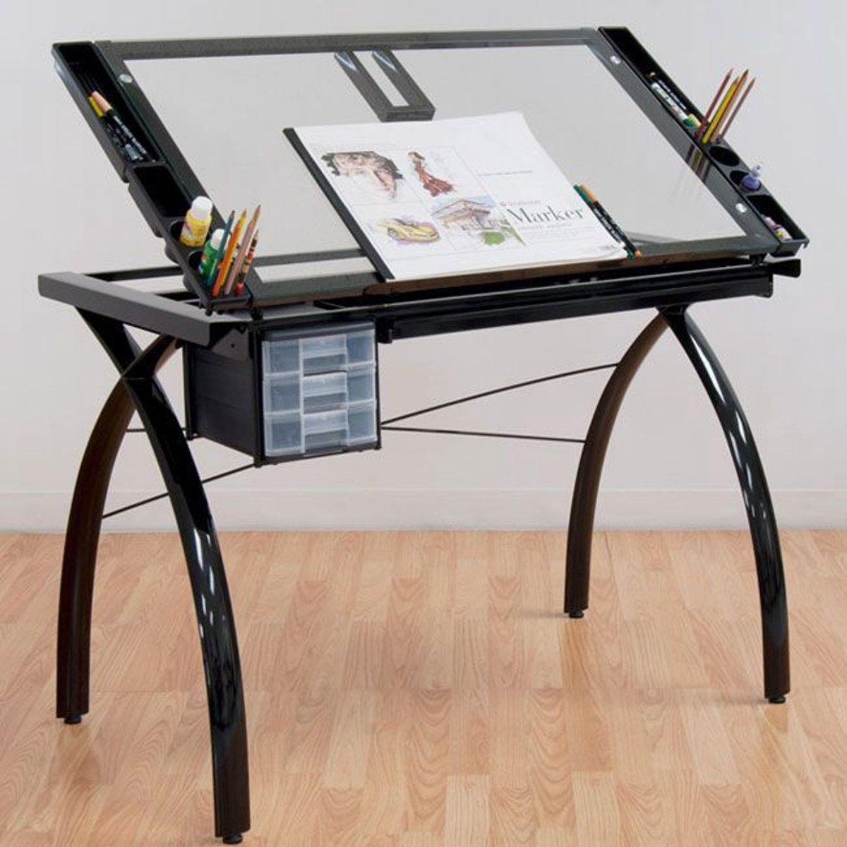 Bolcom Futura Craft Station Design Tafel Met Gehard Veiligheidsglas