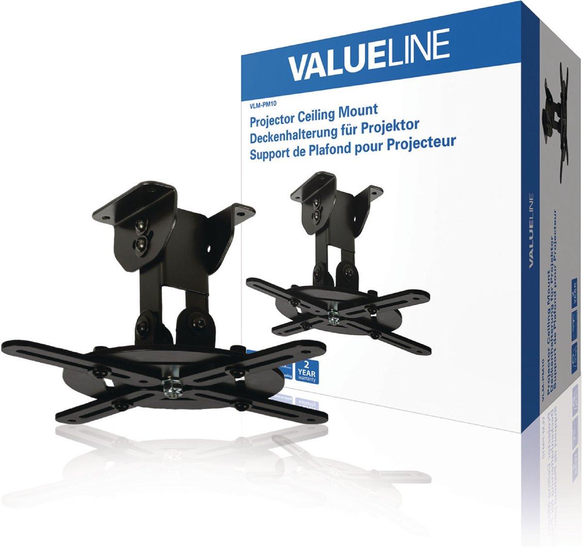 Valueline VLM-PM10 Projector Plafondbeugel Draai- En Kantelbaar 10 Kg Zwart kopen
