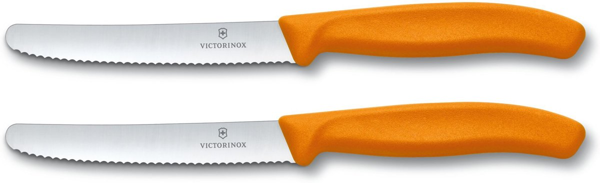 Victorinox Tomatenmes Broodmes Kaasmes Mes Oranje 2 Stuks kopen