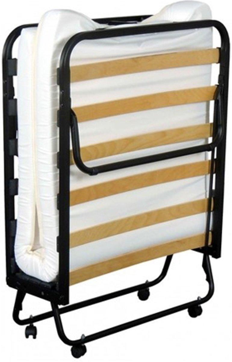 REKE Vouwbed/Opklapbed -  zwart - 80x200cm - inclusief matras (8 cm)