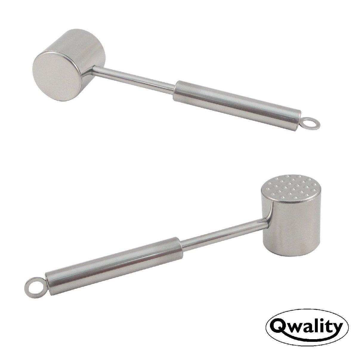Vleeshamer - Meat tenderizer - Vlees vermalser hamer - RVS Tenderizing Flattening - Qwality4u kopen