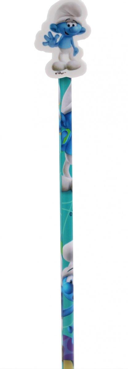 Kamparo Smurfen Potlood Met Gum Blauw 20 Cm kopen