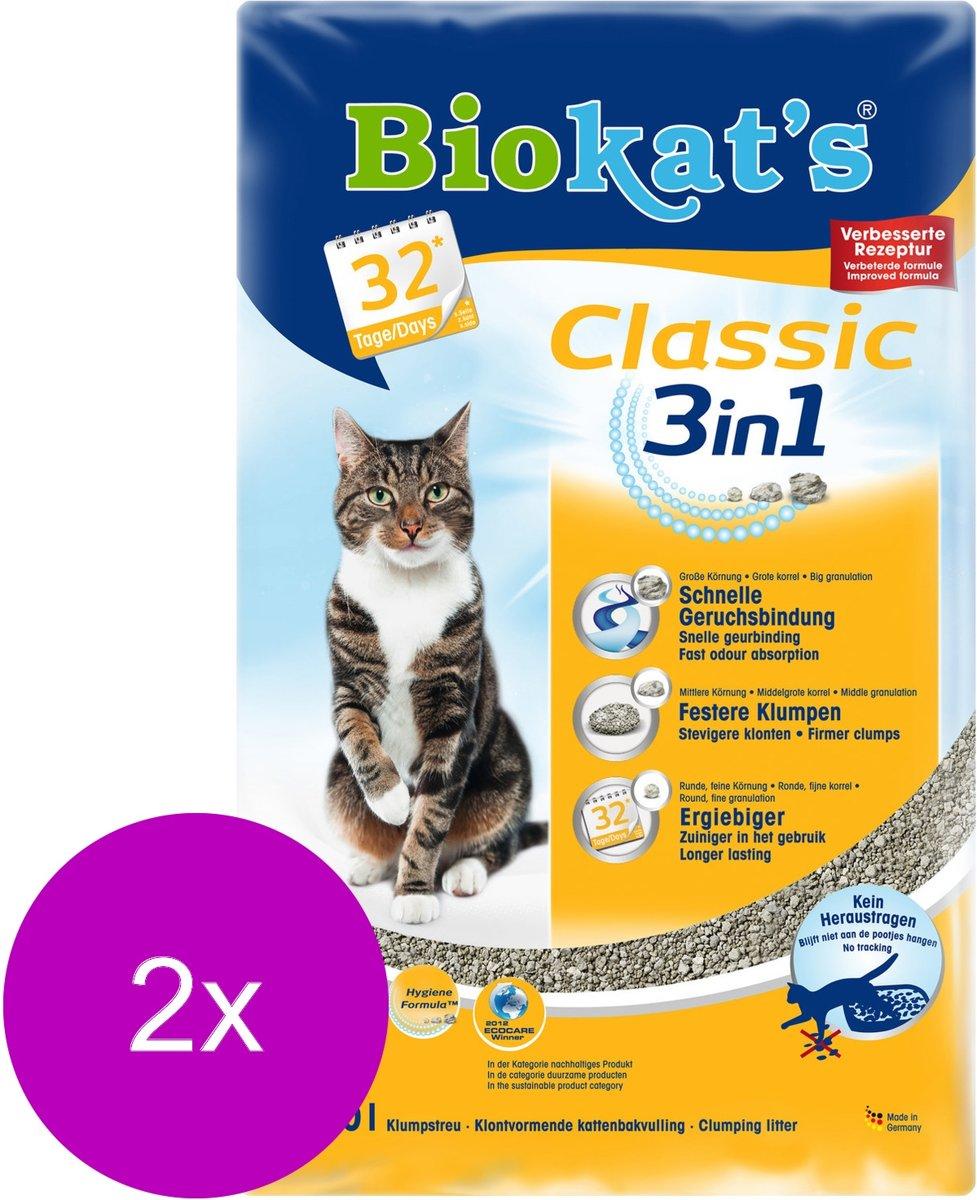 Biokat's Classic 3 In 1 - Kattenbakvulling - 2 x 10 l kopen
