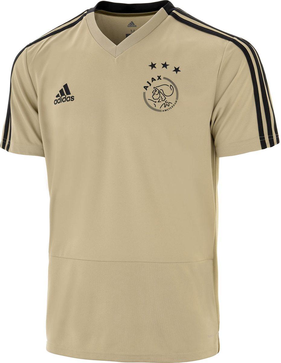 adidas Ajax training shirt uit Heren 2018 2019 beige maat XS