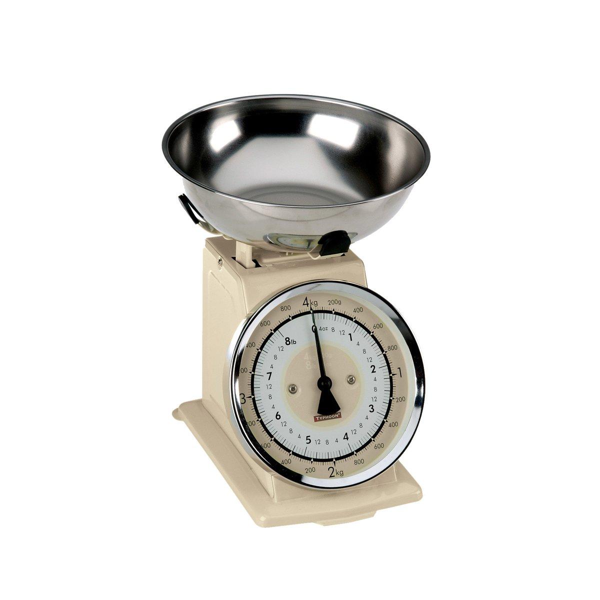 Typhoon Retro Keukenweegschaal - Tot 4 kg - Crème