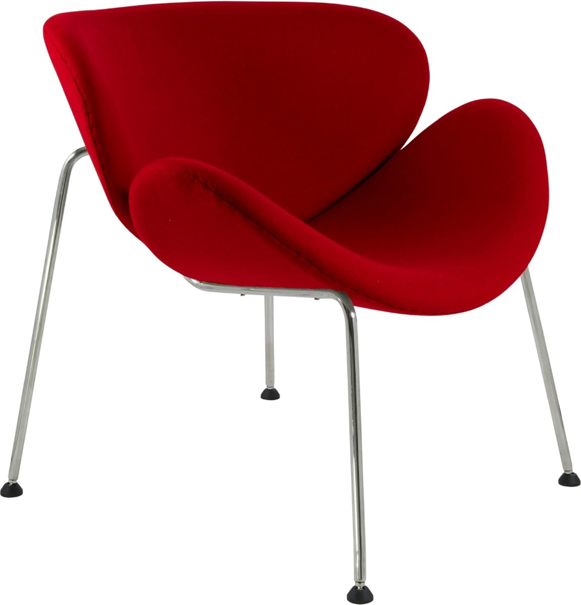 lounge stoel Orange slice originele grootte rood kopen