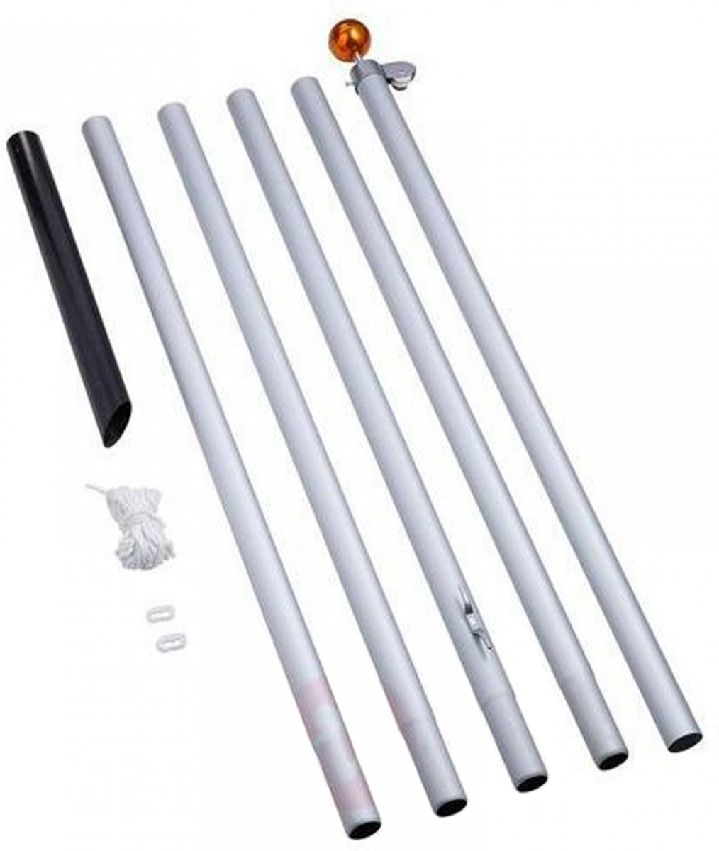 Fairybell - Deelbare vlaggenmast - Zilver - 600cm kopen