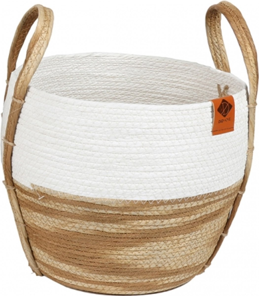 Paper rope mand ray 28x28x25cm