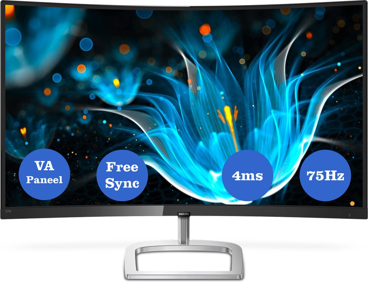Philips 328E9QJAB - Curved Full HD Monitor