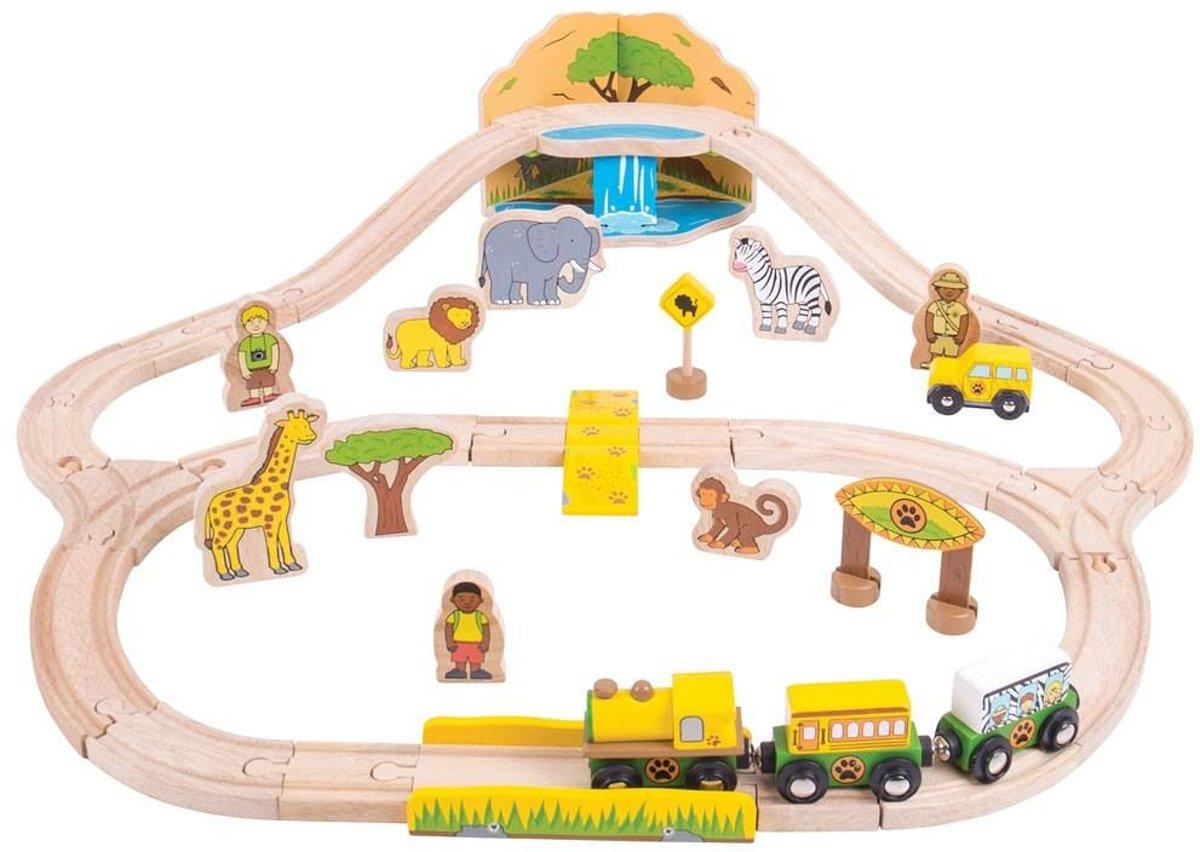 Bigjigs Safari treinbaan
