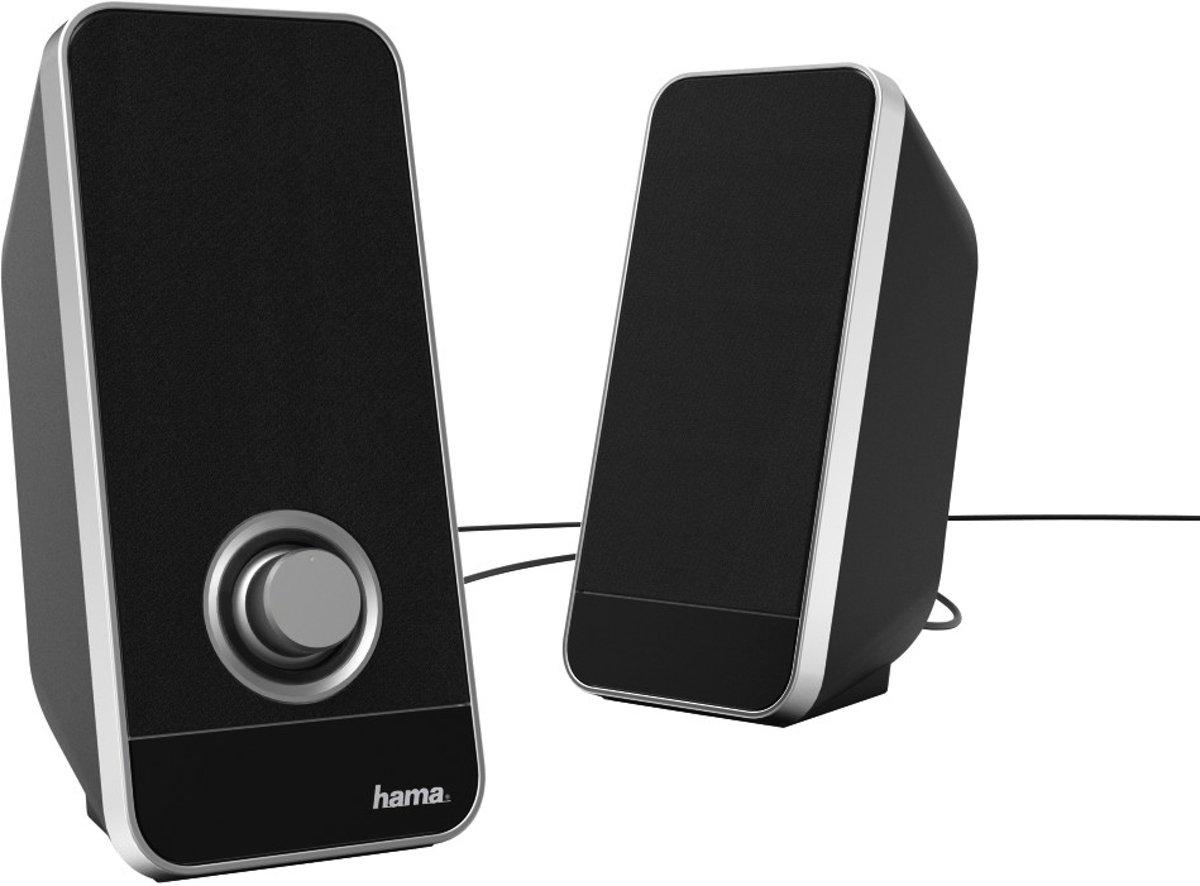 Hama Sonic LS-206 6W Zwart, Zilver luidspreker kopen