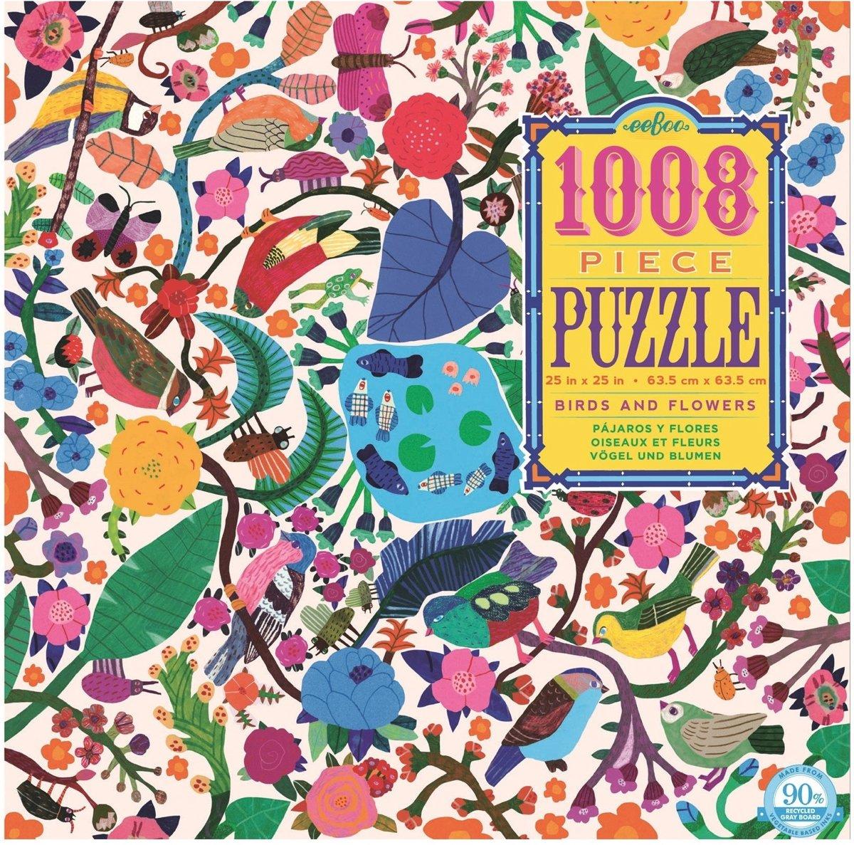 Eeboo Puzzel Vogels En Bloemen 1008 Delig kopen