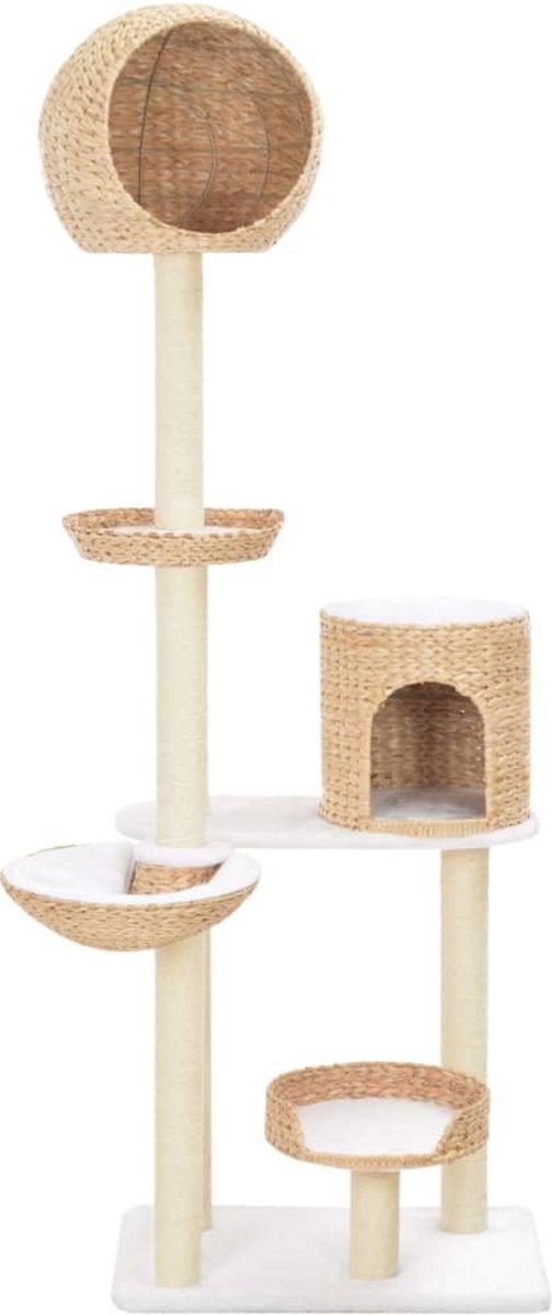 Afbeelding van product SJ interiors  Kattenkrabpaal (incl kattensticks) met sisal 180cm zeegras - Krabpaal katten - Katten Krabpaal