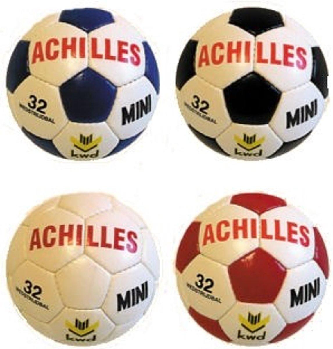 KWD Handbal/Boerenklompgolfbal Achilles Mini - Wit/rood - Omtrek ± 48cm - ± 200 gram kopen