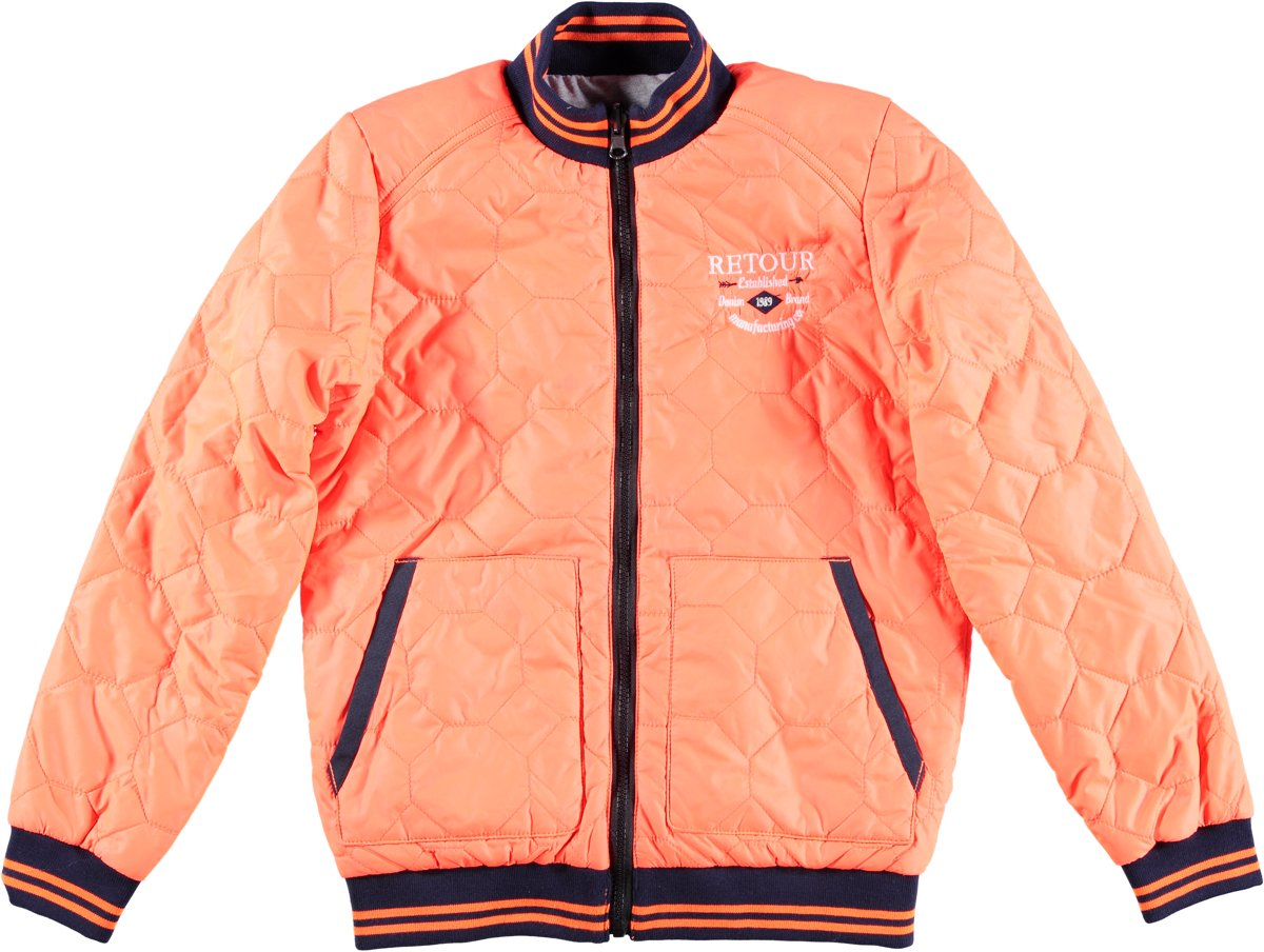 Retour Jeans Jongens Jas - Neon Orange - Maat 146/152 thumbnail
