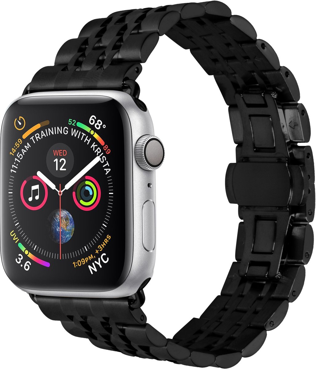 Zwart Stainless Steel bandje voor de Apple Watch 40 / 38 mm kopen