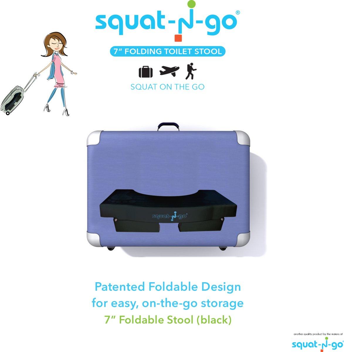 Fine Squat N Go Toiletkrukje Inklapbaar Zwart Juiste Houding Op Toilet Cjindustries Chair Design For Home Cjindustriesco