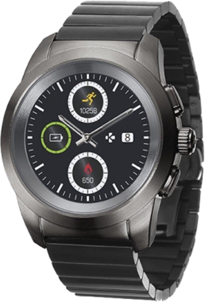 MyKronoz ZeTime elite - Hybride smartwatch - 44mm - Titanium steel kopen
