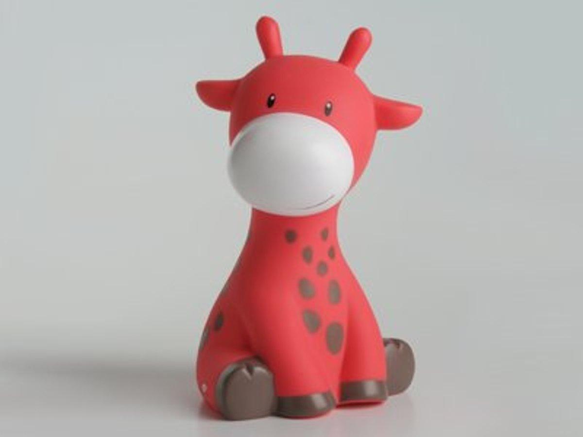 Raf de Giraf  Spaarpot Koraalrood - 21 cm