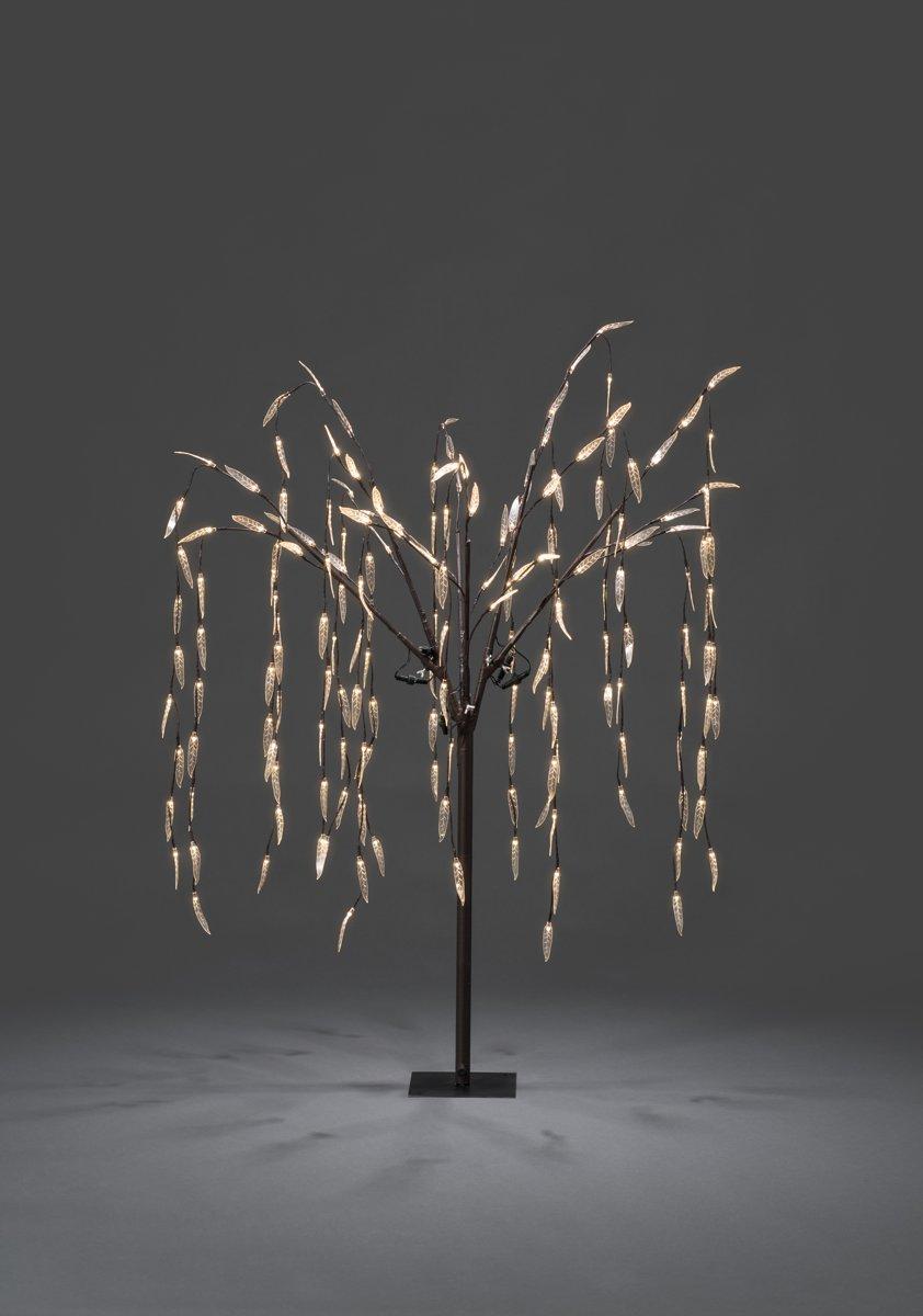 Konstsmide Kerstverlichting buiten - Lichttak treurwilg bruin LED 180 lampjes - 130 centimeter - Warm wit kopen