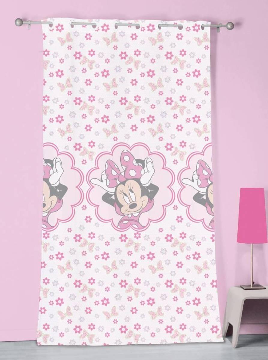 Disney Minnie Mouse Stylish Pink - Vitrage / Gordijn - 140 x 240 cm - Multi kopen