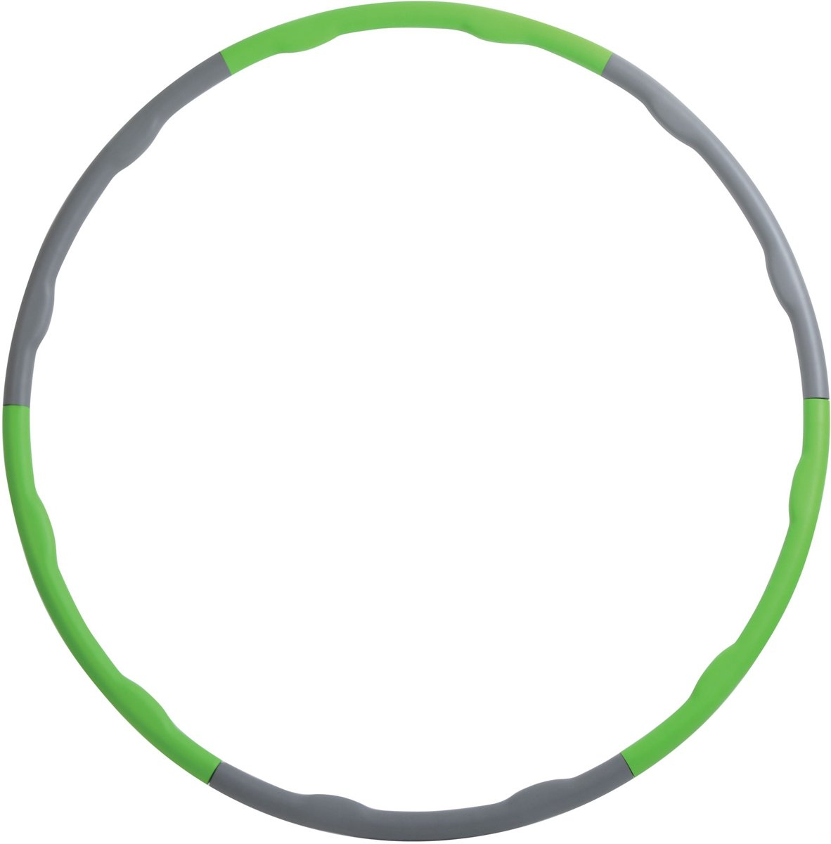 Schildkrot Fitness - Fitness Hoelahoep - 1.2 kg - Ø 100 cm - Groen/Grijs kopen