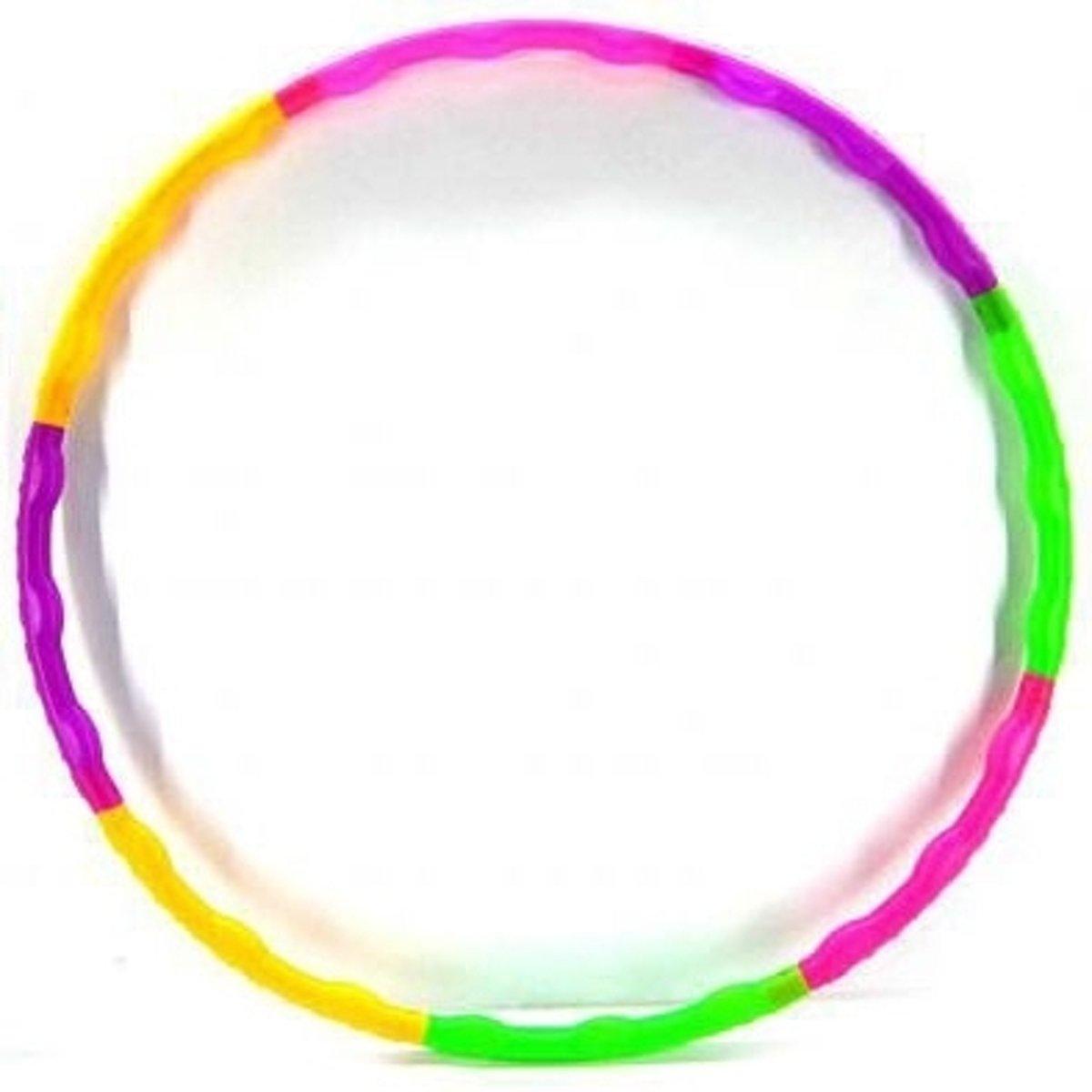 Gekleurde hoela hoep 52 cm kopen