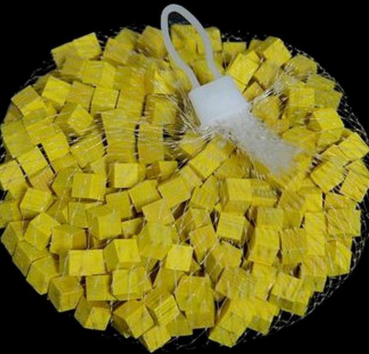 Houten blokjes geel 1 cm - set van 800 stuks kopen