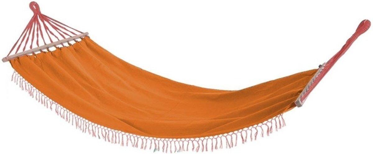 Oranje hangmat 200 cm