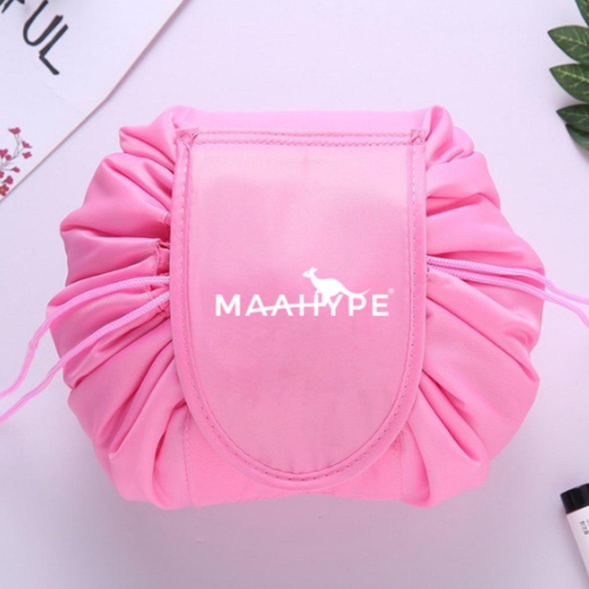 MaaHype Make-up organiser - Makeup opbergen - Accesoires organiser - Opbergsysteem - Reis toilettas - roze kopen