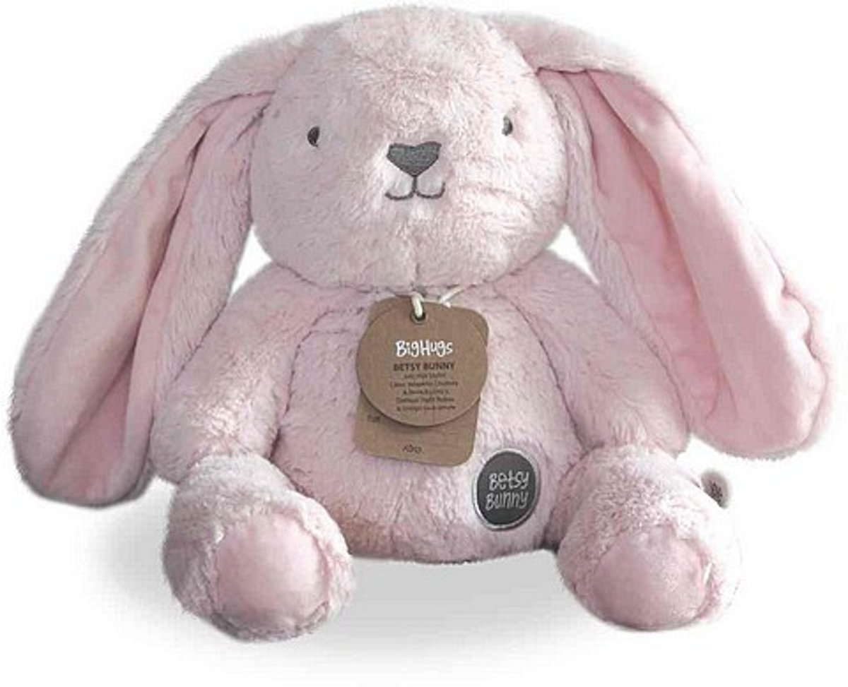 O.B. Designs knuffel konijn Betsy Bunny Bighugs licht-roze