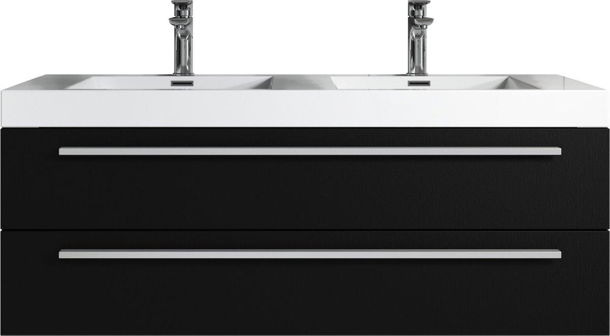 Wastafel Met Kast.Top Honderd Badplaats Badkamermeubel Rome 120cm Zwart Kast Met