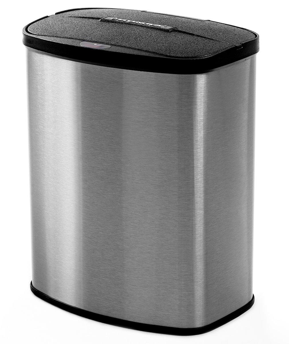 Homra afvalemmer met sensor - toilet prullenbak - badkamer afvalbak - vuilnisbak - 8L - vingerafdruk bestendig RVS - Homra Prime collection