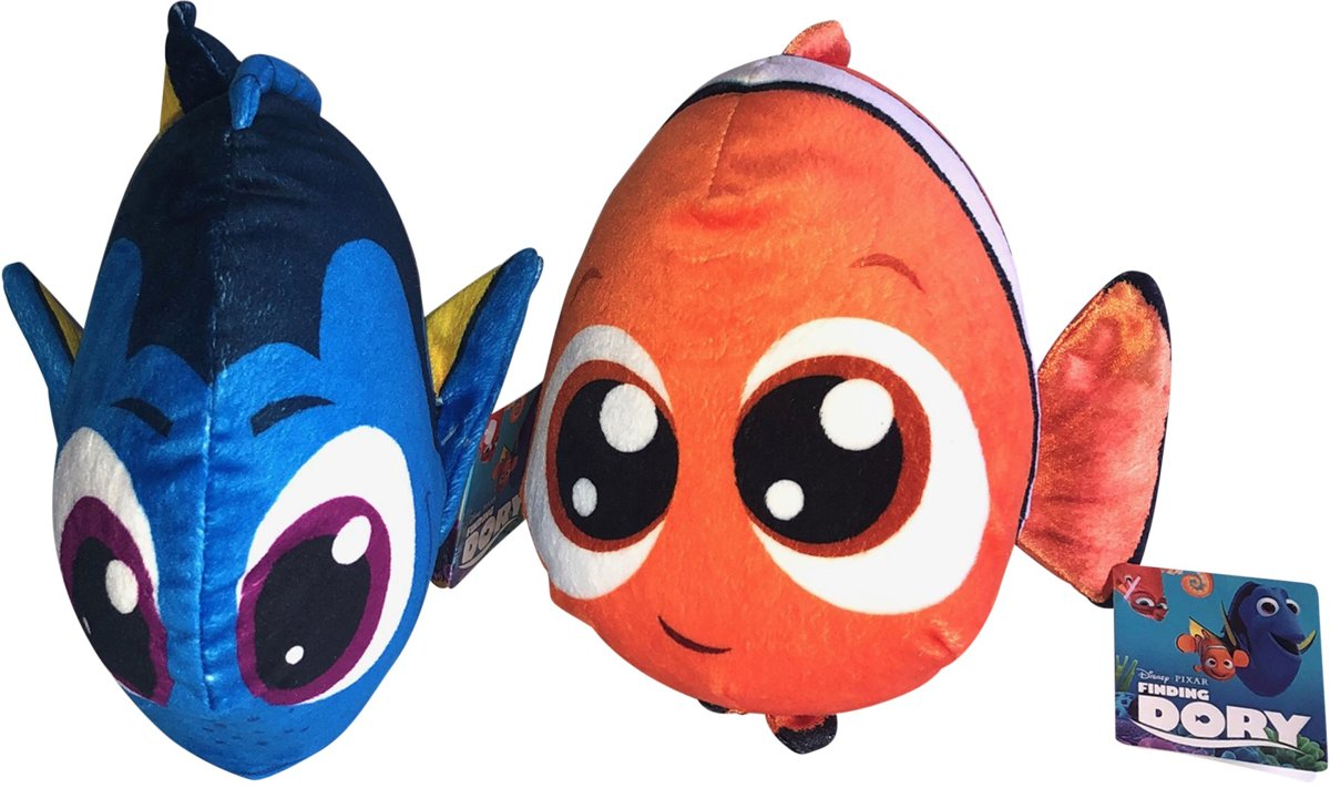 Combideal Finding Nemo en Dory 30 cm Pluche Knuffel